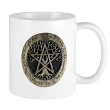 Large Tree Pentacle Stone Mug