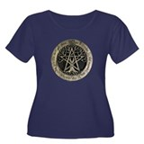 Large Tree Pentacle Stone Women's Plus Size Scoop