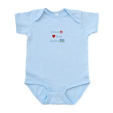 Peace, Love and Aruba Infant Bodysuit