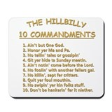 The Hillbilly 10 Commandments Mousepad