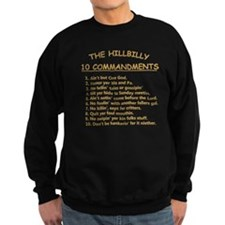 The Hillbilly 10 Commandments Sweatshirt