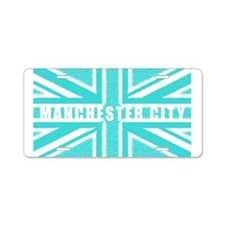 Manchester City Union Jack Aluminum License Plate