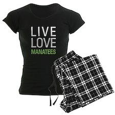 Live Love Manatees pajamas