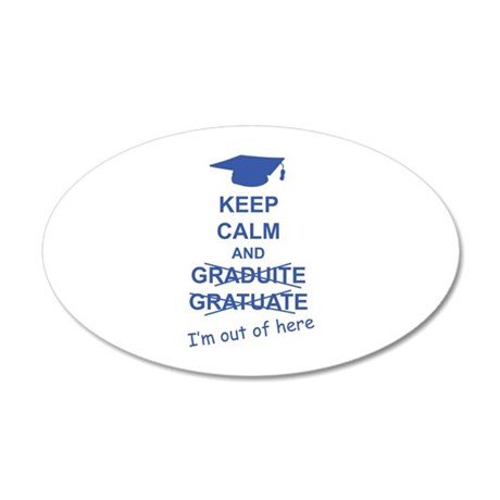 Keep Calm Graduate 38.5 x 24.5 Oval Wall Peel