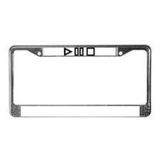 Play pause stop License Plate Frame