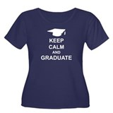 Keep Calm and Graduate Women's Plus Size Scoop Nec