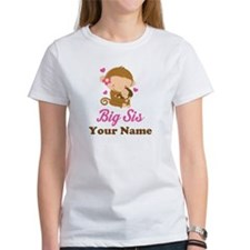 Personalized Big Sister Monkey Tee