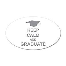 Keep Calm and Graduate 38.5 x 24.5 Oval Wall Peel