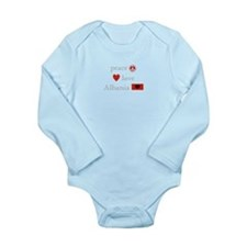 Peace, Love and Albania Long Sleeve Infant Bodysui
