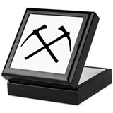 Picks crossed pickax Keepsake Box