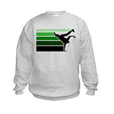 Break lines grn/blk Sweatshirt