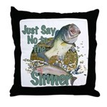 Bass not Rainbow Throw Pillow