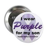"Purple for Son 2.25"" Button"