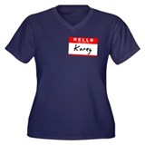 Korey, Name Tag Sticker Women's Plus Size V-Neck D