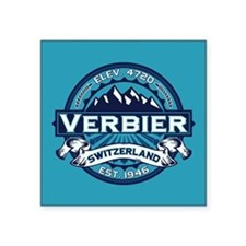 "Verbier Ice Square Sticker 3"" x 3"""