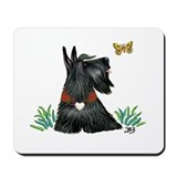 Scotty and Butterfly Mousepad