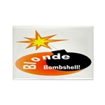 Blonde Bombshell Rectangle Magnet (10 pack)
