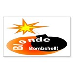 Blonde Bombshell Rectangle Sticker