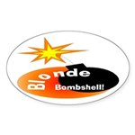 Blonde Bombshell Oval Sticker