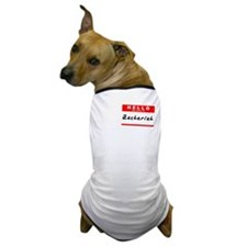 Zachariah, Name Tag Sticker Dog T-Shirt
