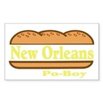 Poboy Sticker (Rectangle 10 pk)