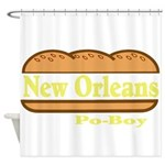 Poboy Shower Curtain