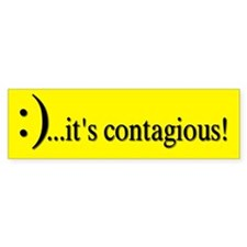 Smile Its Contagious! Bumper Car Sticker