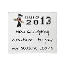 Student Loan 2013 Throw Blanket