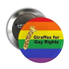 Giraffes for Gay Rights Button