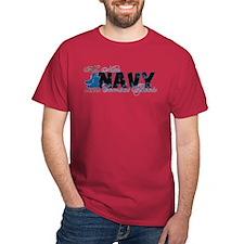 Niece Combat Boots - NAVY T-Shirt