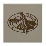 Spain Bullfighting Tile Coaster