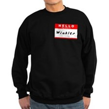 Winkler, Name Tag Sticker Sweatshirt