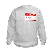 Winkler, Name Tag Sticker Sweatshirt