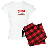Wilson, Name Tag Sticker Pajamas