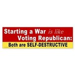 War and Republicans Bumper Sticker