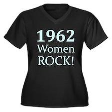 1962 Women's Plus Size V-Neck Dark T-Shirt
