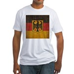 Vintage Germany Flag Fitted T-Shirt