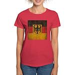 Vintage Germany Flag Women's Dark T-Shirt