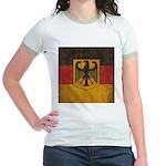 Vintage Germany Flag Jr. Ringer T-Shirt