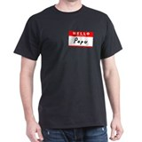 Popu, Name Tag Sticker T-Shirt