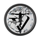 Tyger Vinum Large Wall Clock