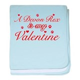 A Devon Rex is my valentine baby blanket