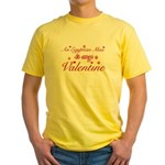 An Egyptian Mau is my Valentine Yellow T-Shirt