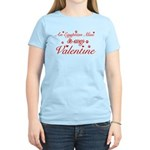 An Egyptian Mau is my Valentine Women's Light T-Sh