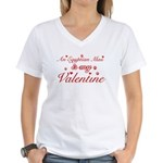 An Egyptian Mau is my Valentine Women's V-Neck T-S