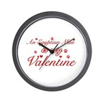 An Egyptian Mau is my Valentine Wall Clock