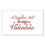 An Egyptian Mau is my Valentine Sticker (Rectangle