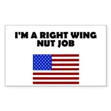 Right Wing Nut Job Rectangle Decal