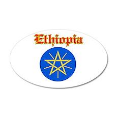 Ethiopia designs 22x14 Oval Wall Peel
