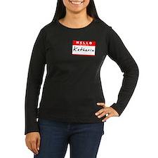 Katharine, Name Tag Sticker T-Shirt